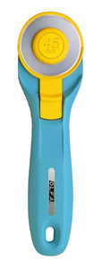 Olfa RTY-2/C 45mm Splash Rotary Cutter, Hand Held Tool for Cutting Mats