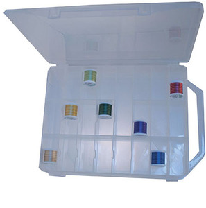 Nifty Notions 1042 Double Sided Thread Storage Box Holds up to 150 Spools of Sewing Thread