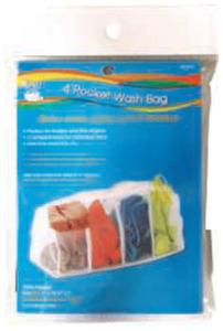 Dritz DCC82427 4 Pocket Wash Bag Sz 7 inch x 16-1/2 inch x 7 inch (17.8cm x 41.9cm x 17.8cm) 100% Polyester