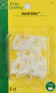 Dritz Quilting DL3014 Handi Bobs Hold Thread on Bobbins 24 (3 Boxes of 6)