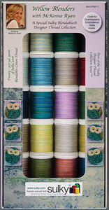Sulky 733-11, 20 Spools of 500 Yards Each, McKenna Ryan Willow Blenders Cotton Sewing Embroidery Quilting Thread 30wt Blendables Kit