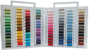 Sulky 885-14 Fleshtones Embroidery Photo Stitch Slimline Threads Box, 104 Colors of 40wt Rayon on 250Yd Spools