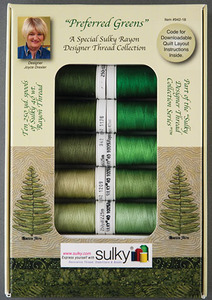 Sulky Joyce Drexeler Preferred Greens Ten Spools Sulky 40wt