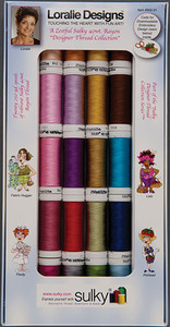 Sulky Designer Thread Collection Loralie's Zestful 20-spool 40wt Rayon Asst