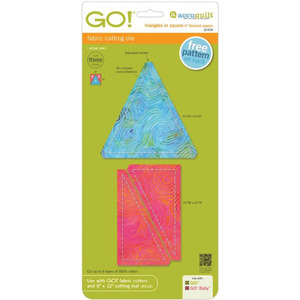 "TRI/SQUARE-GO! FABRIC DIE, AccuQuilt GO! 55409 Triangles In Square 4x4"" Fabric Cutting Die All Cutters"