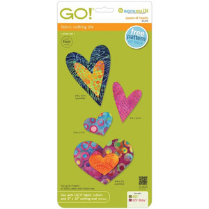 AccuQuilt GO! 55325 Queen of Hearts, Four Sizes Fabric Cutting Die
