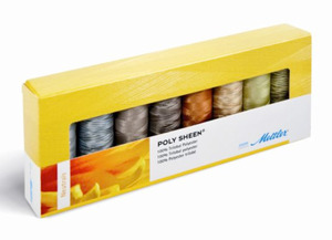 Mettler PS85 Polysheen 40wt Embroidery Thread Neutrals Gift Pack Kit 8 Spools x 220 Yards