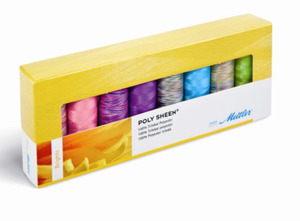 Mettler PS811 Polysheen Brights Embroidery Thread Gift Pack 8 spools