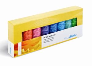Mettler PS81 Polysheen 40wt Embroidery Thread Gift Pack Ombre Pastels, 8 Spools x 218 Yards