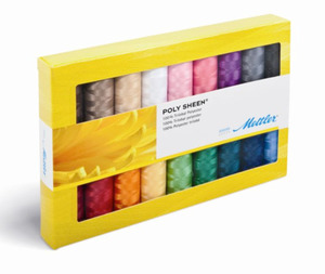Mettler PS18x200Yds Spools PolySheen 40wt Poly Embroidery Thread Gift Pack