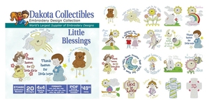 Dakota Collectibles 970486 Little Blessing Multi-Formatted CD Embroidery Machine Designs