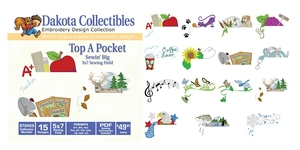 Dakota Collectibles 970459 Top a Pocket Multi-Formatted CD Embroidery Machine Designs