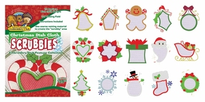 Dakota Collectibles F70539 Christmas Dish Cloth Scrubbies 5X7 Multi-Formatted CD Embroidery Machine Designs