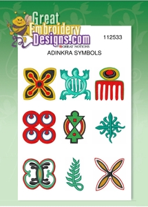 Great Notions 112533 Adinkra All Designs Multi-Formatted CD