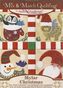 Anita Goodesign 221AGHD Mix Match Quilting Mylar Christmas Collection
