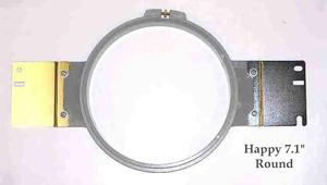 "Happy PTA-18-360 7.1"" 180mm/18cm Round Plastic Tubular Embroidery Hoop Frame"