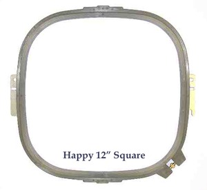 Durkee PTA-30300-360 12in (30cm/360mm) Square Tubular Double Height Jacket Back Embroidery Hoop Frame for Happy Embroidery Machines