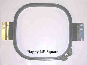 "Durkee H-24x24-360 9.4"" (240mm/15cm) Square Tubular Embroidery Hoop Frame for Happy Embroidery Machines"