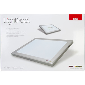 "-LIGHT BOX 17""X24"", Artograph A950 LightPad LED Light Box 17 X 24 inch, AC/DC Adapter, Custom Protective Storage Sleeve"
