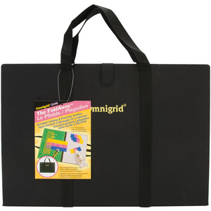 "Omnigrid OG2103 The Fold Away 12""x18"" Carry Storage Tote, 12"" x 18"" gridded mat and 12"" x 18"" non-stick pressing surfaces"