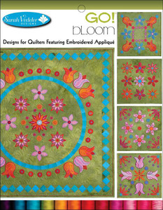 Sarah Vedeler SV-BLOOM 14 Designs GO! Bloom Embroidery Applique CD