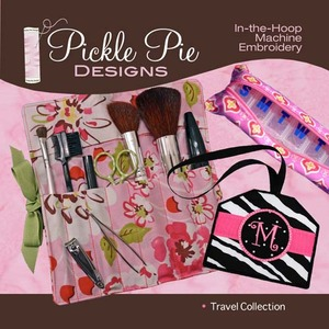 Pickle Pie Designs Travel Collection Embroidery Designs CD