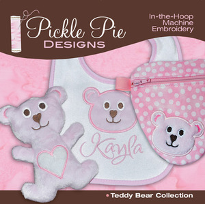 Pickle Pie Designs Teddy Bear Collection Embroidery Designs CD