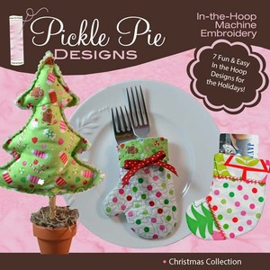 Pickle Pie Designs Christmas Collection Embroidery Designs CD
