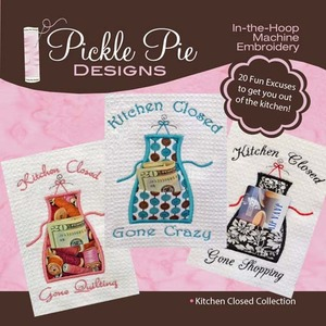 Pickle Pie Designs Kitchen Closed Collection Embroidery Designs CD