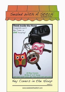 Sealed with a Stitch Key Covers in the Hoop Embroidery Design CD
