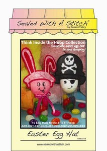 Sealed with a Stitch Easter Egg Hat Embroidery Design CD