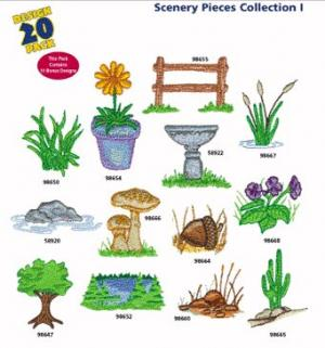 Amazing Designs / Great Notions 1245 Scenery Pieces I Multi-Formatted CD