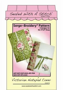 Sealed with a Stitch Victorian Notepad Cover Embroidery Design CD