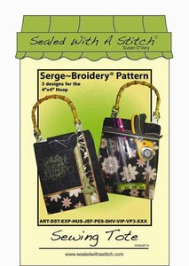 Sealed with a Stitch Sewing Tote Embroidery Design CD