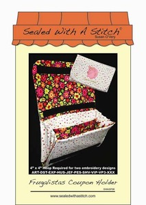 Sealed with a Stitch Frugalistas Coupon Holder Embroidery Design CD