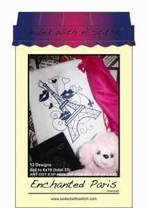 Sealed with a Stitch Enchanted Paris Embroidery Design CD
