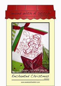 Sealed with a Stitch Enchanted Christmas Embroidery Design CD