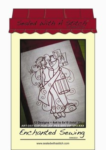 Sealed with a Stitch SWASD21 Enchanted Sewing Embroidery Design CD
