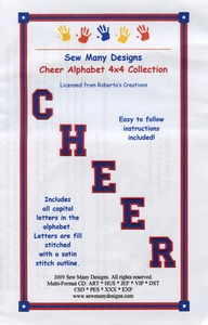 Sew Many Designs Cheer Alphabet Collection Applique Collection Multi-Formatted CD