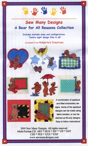 Sew Many Designs Bear For All Reasons Applique Collection Multi-Formatted CD