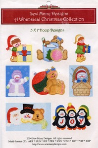 Sew Many Designs Whimsical Christmas Applique Designs Multi-Formatted CD