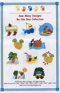Sew Many Designs By The Sea Applique Designs Multi-Formatted CD