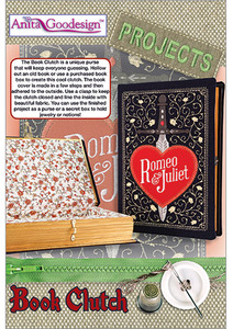 Anita Goodesign PROJ45 Book Clutch Projects Collection Multi-format Embroidery Design Pack on CD 12 Designs