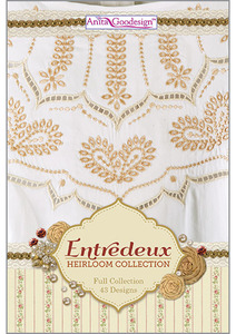 Anita Goodesign 222AGHD Entredeux Full New Heirloom Collection Multi-format Embroidery Design Pack on CD 43 Designs