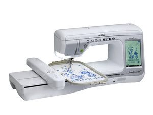 Brother VM5100 Dream CreatorXE Sewing Embroidery Machine, SASEB Roller Bag, SAFLIP1B Mobile Scanner, PEDesign+/Photo Stitch Software, Free CM650WX SNC