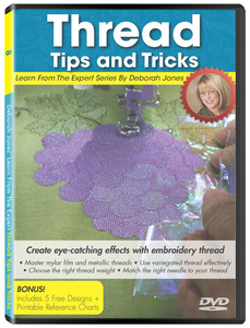 Design, Machine, Embroidery, LFE0080, Learn, From, Expert, Volume, 8, Thread, Trick, Deborah, Jones, Instructional, dvd