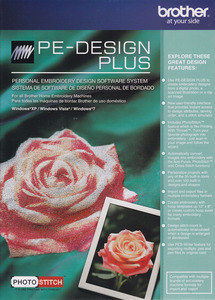 Brother PE Design Plus V1.0  Embroidery Basic Software for up to 12x8 Inch Hoops, Includes Photo Stitch Digitizing Software Module from PEDesign NEXT