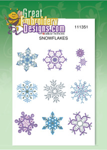 Great Notions 111351 Snowflakes Designs Multi-Formatted CD