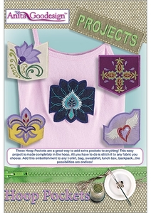 Anita Goodesign PROJ47 Hoop Pockets Multi-format Embroidery Design Pack on CD