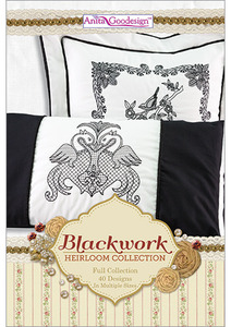 Anita Goodesign 224AGHD Blackwork Multi-format Embroidery Design Pack on CD Full Collection 62 Designs